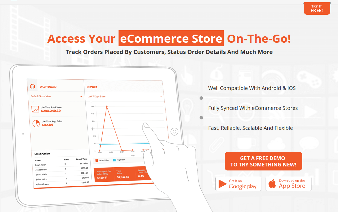 Name:  MageMob Admin  Magento Mobile Assistant Extension to Manage Store   Biztech Store.png